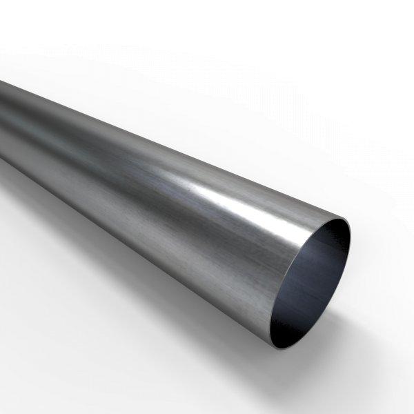 Auspuffrohr universal Ø 70 mm Auspuff Stahl aluminiert