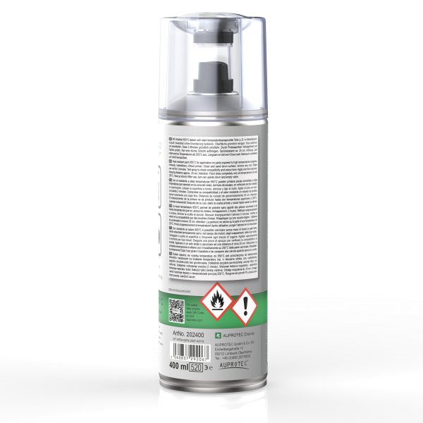 AUPROTHERM 650 400ml Auto Lack Spray hitzefest silber | auprotec.com