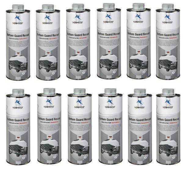 Unterbodenschutz überlackierbar Bottom Guard Recoat 1 Liter Dose für Druckluft Pritzpistole grau
