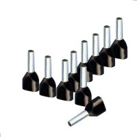 Twin Aderendhülsen 1,50 mm² isoliert schwarz Kabelendhülsen