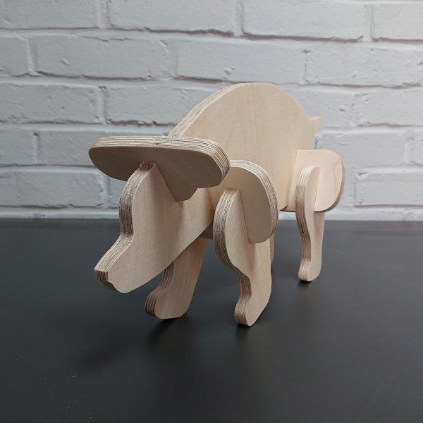 3D Holzbausatz Multiplex Birkenholz Modell Bär