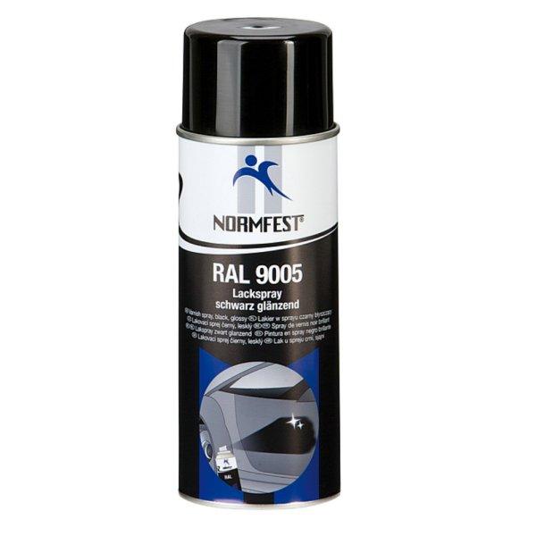 Normfest Lackspray RAL 9005 schwarz, glänzend 400ml