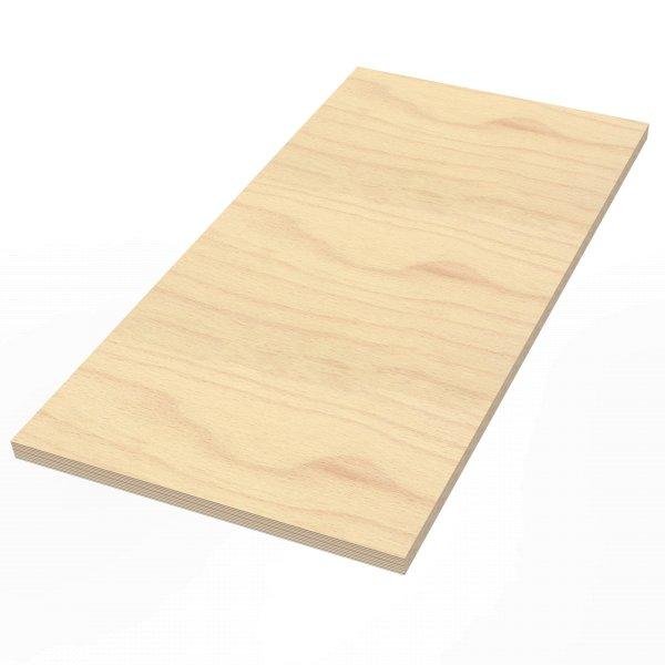 Werkbankplatte 1250 x 700 x 40 mm Multiplex Platte massiv geschliffen + geölt