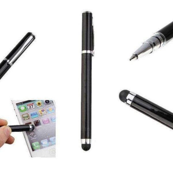 Touch Pen 2in1 Stylus Eingabestift mit Kugelschreiber