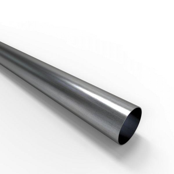 Auspuffrohr universal Ø 50 mm Auspuff Stahl aluminiert