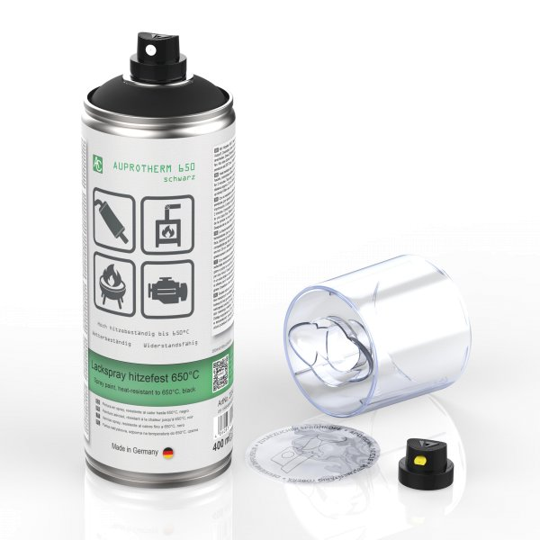 AUPROTHERM 650 400ml Auto Lack Spray hitzefest schwarz | auprotec.com