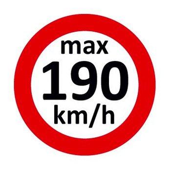 Set Geschwindigkeitsaufkleber 190 km/h nach § 36 StVZO