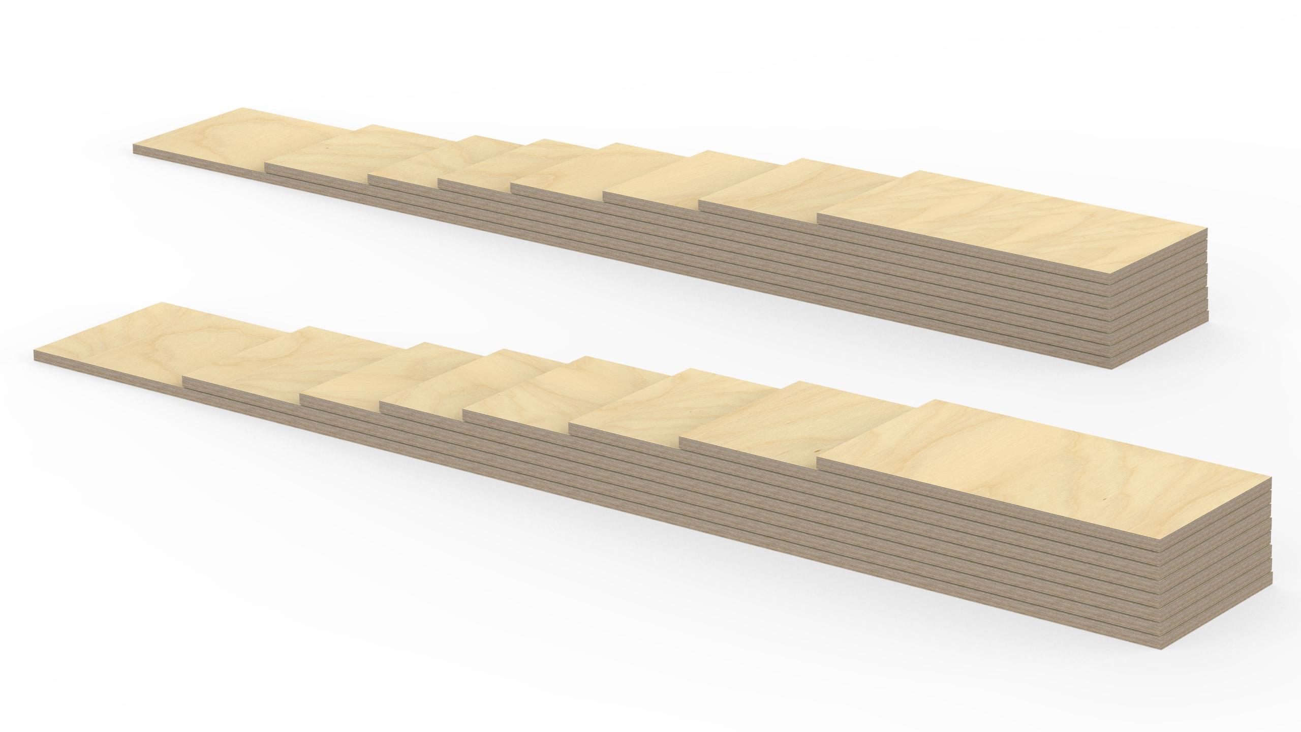 1210 mm 2m Birke Sperrholz Brett L/änge 100mm Holz Bretter 21mm Multiplex Brett-Zuschnitte L/ängen 1m