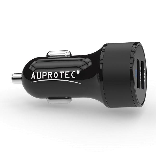 USB Adapter iX-2C Dual Auto Ladegerät 3.4A schwarz