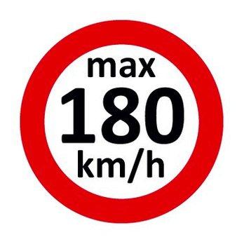 Set Geschwindigkeitsaufkleber 180 km/h nach § 36 StVZO