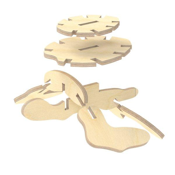 3D Holzbausatz Multiplex Birkenholz Modell Schildkröte