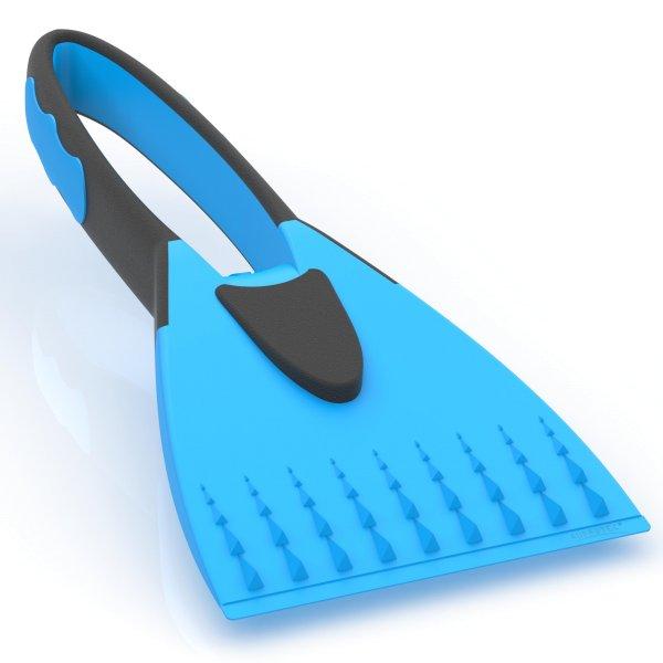 Eiskratzer 2K mit integriertem Softgriff blau