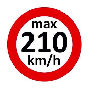 Set Geschwindigkeitsaufkleber 210 km/h nach § 36 StVZO