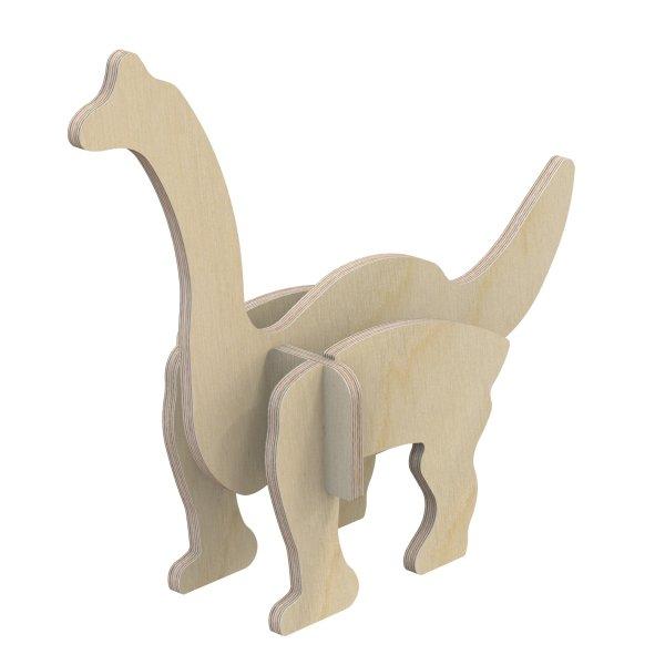 3D Holzbausatz Multiplex Birkenholz Modell Dino I