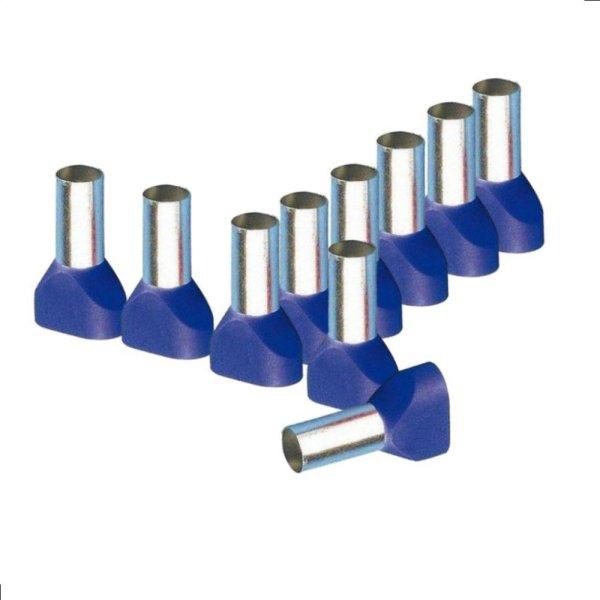 Twin Aderendhülsen 16,00 mm² isoliert blau Kabelendhülsen