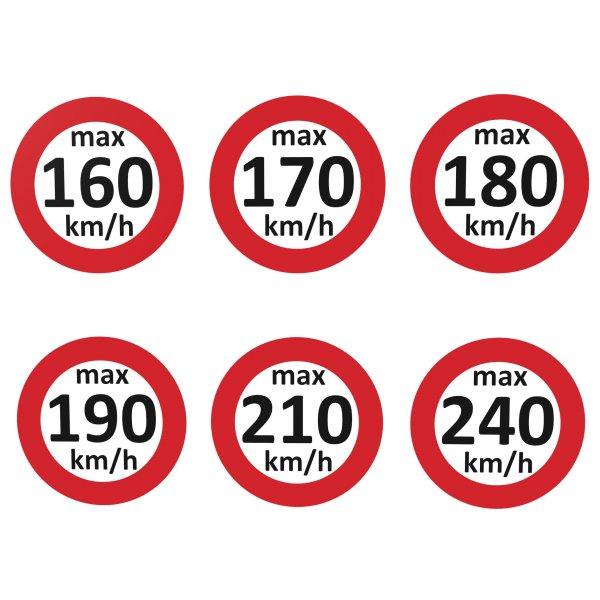 Geschwindigkeitsaufkleber 160 - 240 km/h nach § 36 StVZO