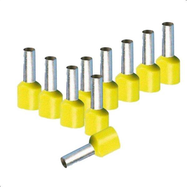 Twin Aderendhülsen 6,00 mm² isoliert gelb Kabelendhülsen