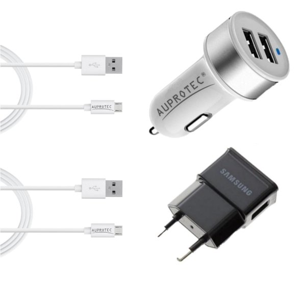Kit 4 en 1 avec Chargeur Allume-cigare Double USB 3.1A, adaptateur ...