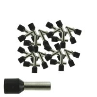 Aderendhülsen 6,00 mm² isoliert schwarz Kabelendhülsen