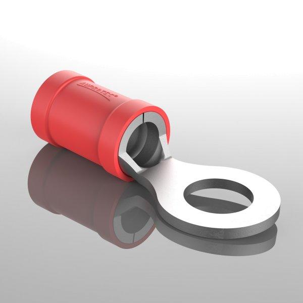 Ringkabelschuhe Teilisoliert rot