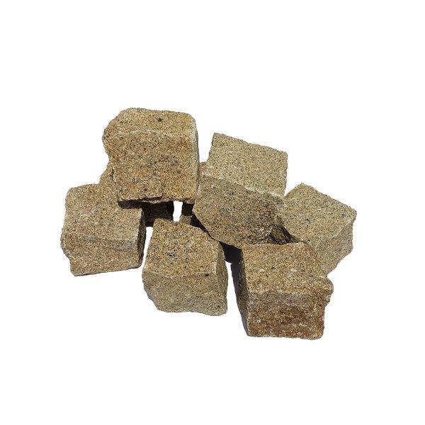 Granit Pflastersteine Naturstein 9/11 gelb als Kleinmenge