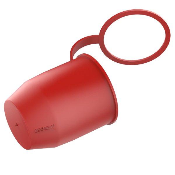 Schutzkappe Anhängerkupplung mit Sicherungsring für Kugelkopf-Kupplung rot