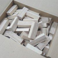 Holz-Bausteine Birke Länge 80mm gemischt 18-30mm Multiplex Sperrholzklötze