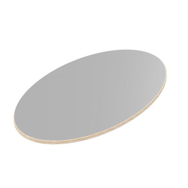 Multiplexplatte Holzplatte Tischplatte Ellipse melaminbeschichtet grau