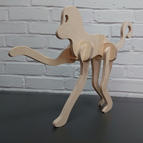 3D Holzbausatz Multiplex Birkenholz Modell Affe II