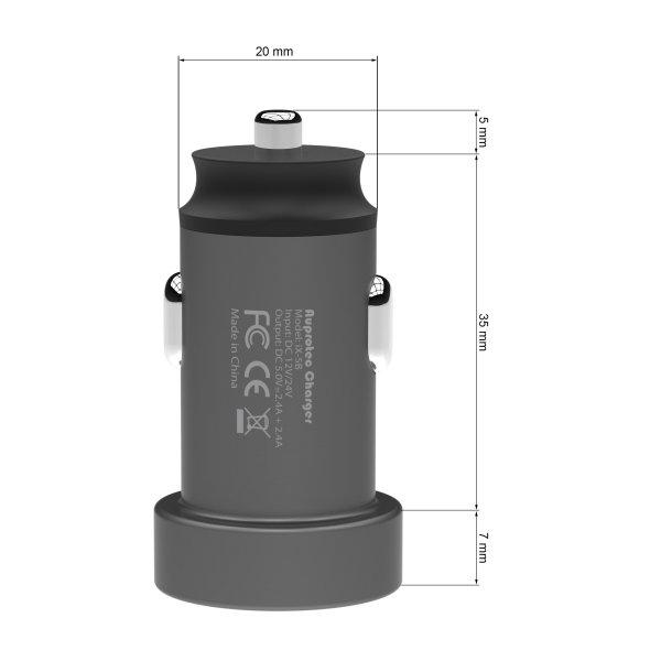 USB Adapter iX-5B Dual Auto Ladegerät 4,8A