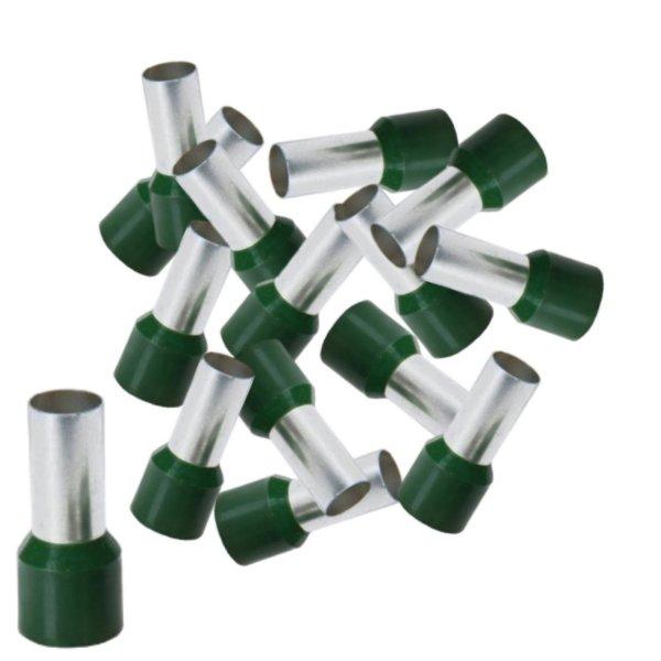 Aderendhülsen 50,00 mm² isoliert grün Kabelendhülsen