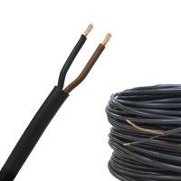 Rundkabel 2 x 1,5 mm² Kfz Kabel 2 polig/adrig schwarz-braun Meterware