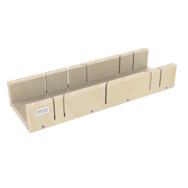Schneidlade 400 x 135 x 68 mm Multiplex Birkenholz