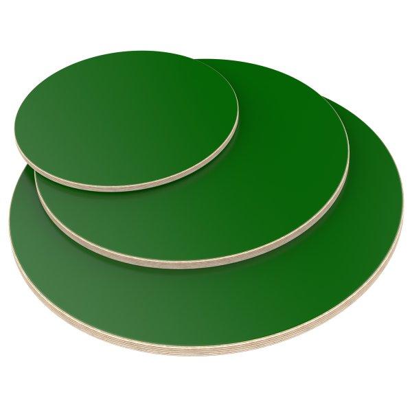 Multiplexplatte Holzplatte Tischplatte Rund melaminbeschichtet grün