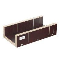 Schneidlade 250 x 135 x 68 mm Multiplex Birkenholz beschichtet Siebdruck