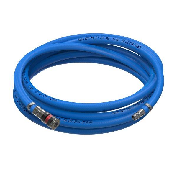 Sicherheits Druckluftschlauch Set 6mm - 13mm Würth PVC Schlauch Würth Schnellkupplung + Anschluss