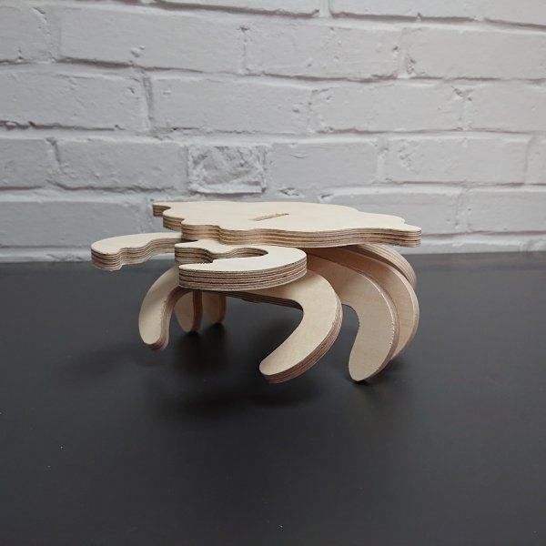 3D Holzbausatz Multiplex Birkenholz Modell Krabbe