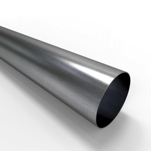 Auspuffrohr universal Ø 80 mm Auspuff Stahl aluminiert