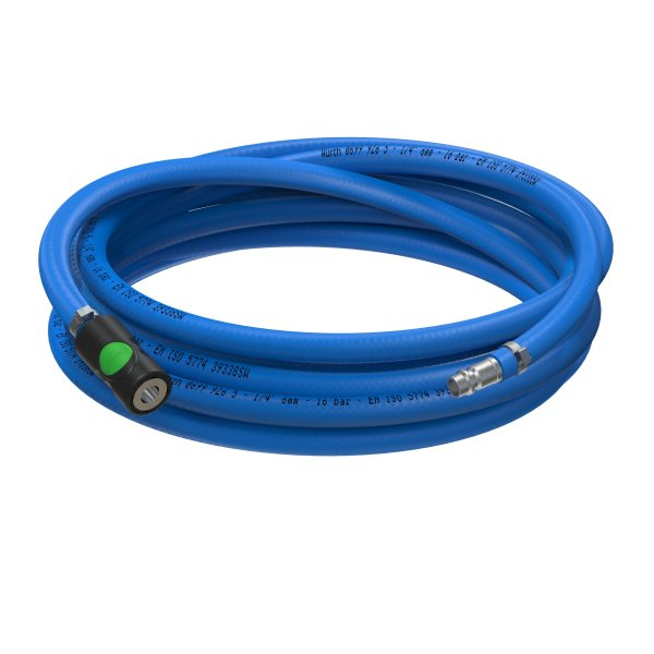 Sicherheits Druckluftschlauch Set 6mm - 13mm Würth PVC Schlauch Prevost S1 Schnellkupplung + Anschlu
