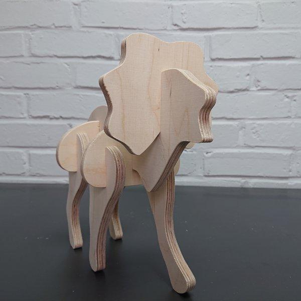 3D Holzbausatz Multiplex Birkenholz Modell Löwe