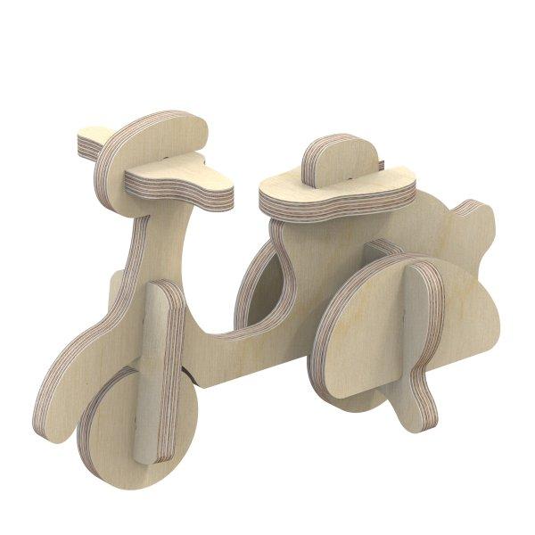 3D Holzbausatz Multiplex Birkenholz Modell Roller