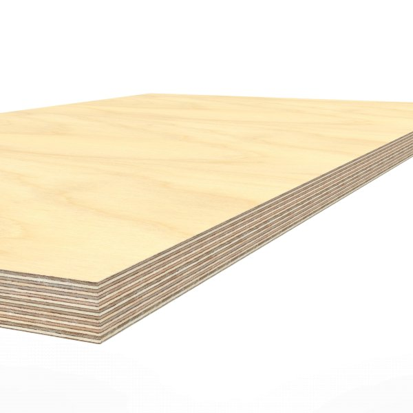Werkbankplatte 2000 x 750 x 40 mm Multiplex Platte massiv geschliffen + geölt