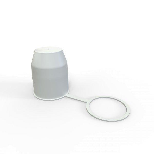 Schutzkappe Anhängerkupplung mit Sicherungsring für Kugelkopf-Kupplung weiß