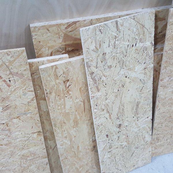 1m² Reste 9mm OSB/3 Platten Zuschnitt Holz Grobspanplatte