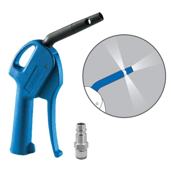 """Sicherheits Druckluftpistole Venturi Düse OSHA Blaspistole + 1/4"""" Stecktülle"""