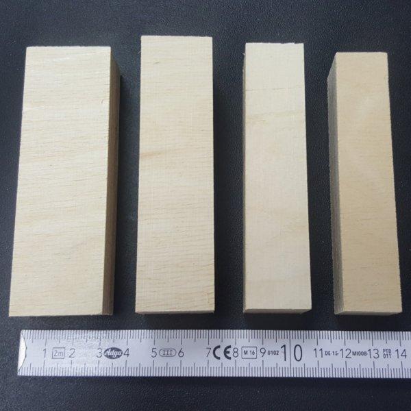 Holz-Bausteine Birke Länge 100mm gemischt 18-30mm Multiplex Sperrholzklötze Details