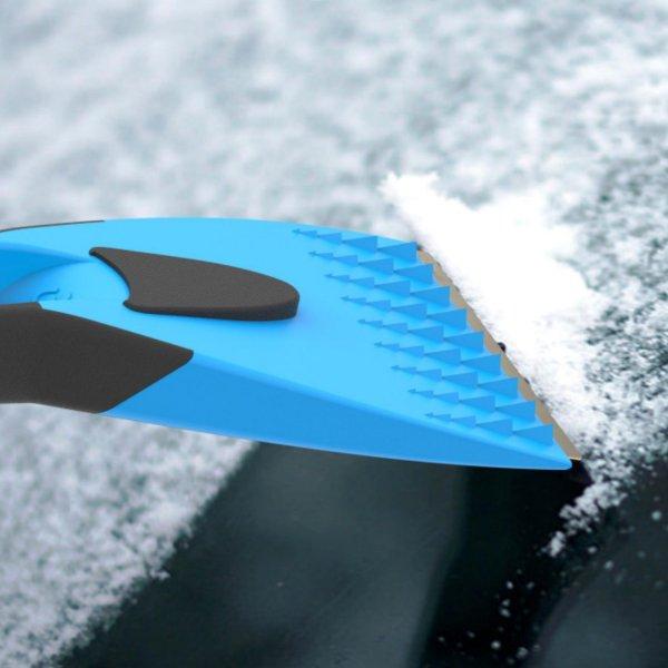 Eiskratzer 2K mit Messingklinge und rutschfestem Softgriff blau