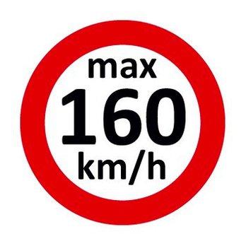 Set Geschwindigkeitsaufkleber 160 km/h nach § 36 StVZO