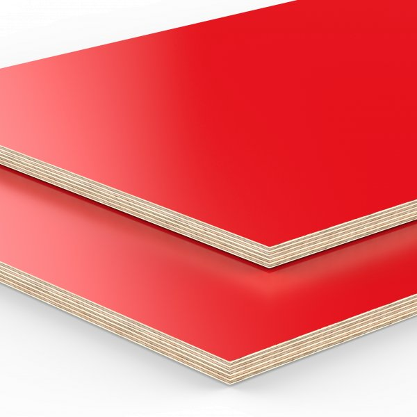 Multiplexplatte Holzplatte Tischplatte Birke melaminbeschichtet rot